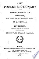 A New Pocket Dictionary of the Italian and English Languages
