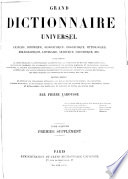 Grand dictionnaire universel du XIXe siècle: 1. -2. supplement. 1878- 90?