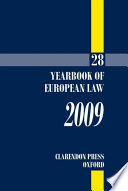 Yearbook of European Law 2009  , Band 28