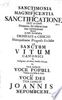 A collection of 29 sermons and orations in German, Latin or Czech, many containing chronograms, commemorating the canonisation of St John Nepomuk