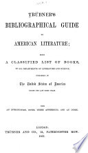 Trubner S Bibliographical Guide To American Literature