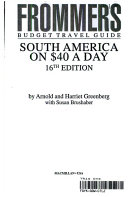 Frommer's Guide to South America on 40 Dollars a Day