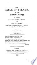 The Exile of Poland; Or, the Vow of Celibacy; a Novel, Translated from the French, by Mrs. Richardson