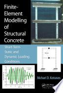 Finite Element Modelling of Structural Concrete