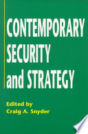 Cover of Contemporary Security and Strategy
