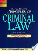 Principles of Criminal Law 3 e