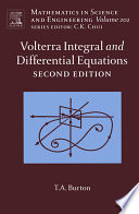 Volterra Integral and Differential Equations