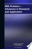 Milk Proteins   Advances in Research and Application  2012 Edition