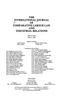 The International Journal Of Comparative Labour Law And Industrial Relations