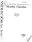 Monthly Checklist of State Publications
