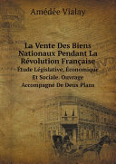 Pdf La Vente Des Biens Nationaux Pendant La R?volution Fran?aise Telecharger