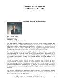 Trinidad and Tobago Annual Report 2004