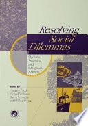 Resolving Social Dilemmas Book