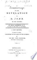 A Commentary on the Revelation of St. John