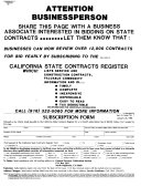 California State Contracts Register