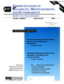 Communications in Reliability  Maintainability  and Supportability Book