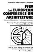 1989 2nd European Conference on Architecture