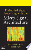 Embedded Signal Processing With The Micro Signal Architecture Book PDF