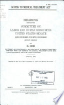 Access to Medical Treatment Act Book