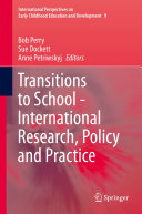 Transitions to School   International Research  Policy and Practice