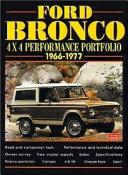 Ford Bronco 4X4 Performance Portfolio 1966 1977
