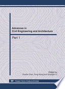 Advances in Civil Engineering and Architecture