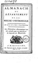 Almanach du Département de la Meuse-inférieure