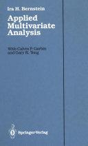 Applied Multivariate Analysis [Pdf/ePub] eBook