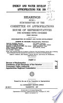 Energy and Water Development Appropriations for 1998
