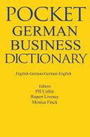 Pocket Business German Dictionary