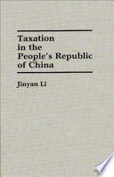 Taxation In The People S Republic Of China