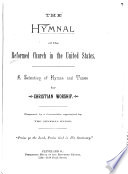 The Hymnal of the Reformed Church in the United States