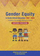 Gender Equity in South African Education 1994 2004