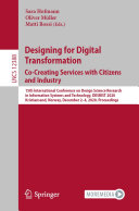 Designing for Digital Transformation  Co Creating Services with Citizens and Industry