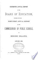 Report of the State Board of Education Together with the Report of the Commissioner of Public Schools Book