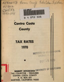 Contra Costa County Tax Rates