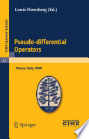 Pseudo differential Operators