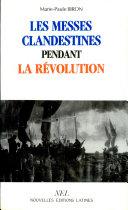 Les messes clandestines pendant la Révolution [Pdf/ePub] eBook