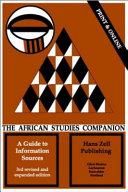 The African Studies Companion