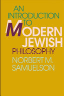 Introduction to Modern Jewish Philosophy  An