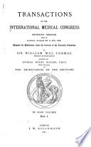 Translations of the International Medical Congress  Seventh Session  Held in London  August 2d to 9th  1881 Book