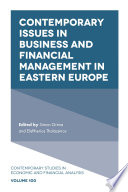 Contemporary Issues in Business and Financial Management in Eastern Europe