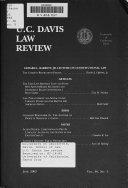 U C Davis Law Review
