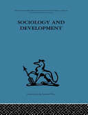 Pdf Sociology and Development Telecharger