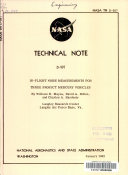 In flight Noise Measurements for Three Project Mercury Vehicles