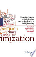 Recent Advances In Optimization And Its Applications In Engineering Book PDF
