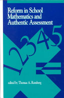 Reform in School Mathematics and Authentic Assessment