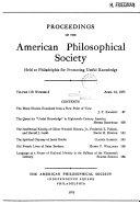 Proceedings, American Philosophical Society (vol. 119, No. 2, 1975) [Pdf/ePub] eBook