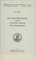 Die Blechtrommel von Günter Grass
