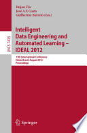 Intelligent Data Engineering and Automated Learning    IDEAL 2012 Book PDF